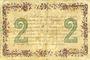 Banknoten Chateauroux (36). Chambre de Commerce. Billet. 2 francs 6.4.1915, série C