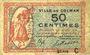 Banknoten Colmar (68). Ville. Billet. 50 centimes 15.12.1918, série C