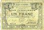 Banknoten Courrières (62). Commune. Billet. 1 franc, émission janvier 1916, série E