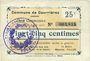 Banknoten Courrières (62). Commune. Billet. 25 centimes, émission août 1915