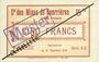 Banknoten Courrières (62). Compagnie des Mines. Billet. 5 francs du 15.12.1914, série C-X