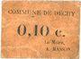 Banknoten Dechy (59). Commune. Billet. 10 centimes