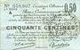 Banknoten Douai et Région de Carvin (59). Billet. 50 centimes 22.5.1916, 1ère série A