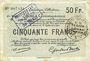 Banknoten Douai et Région de Carvin (59). Billet. 50 francs 22.5.1916, 2e série G