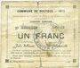 Banknoten Dourges (62). Commune. Billet. 1 franc 18.1.1915, série EO
