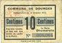 Banknoten Dourges (62). Commune. Billet. 10 centimes 18.10.1915