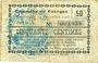 Banknoten Dourges (62). Commune. Billet. 50 centimes 24.12.1915