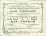 Banknoten Ecourt Saint-Quentin (62). Commune. Billet. 10 francs 20.12.1914, 2e émission