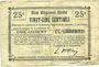Banknoten Englancourt (02). Commune. Billet. B.R.U., 25 centimes