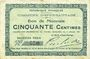 Banknoten Eppe-Sauvage (59). Commune. Billet. 50 centimes 4.7.1915
