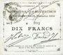 Banknoten Esquerchin (59). Commune. Billet. 10 francs, émission 1914, série H (papier blan uni)