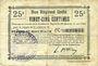 Banknoten Etaves-et-Bocquiaux (02). Commune. Billet. B.R.U., 25 centimes