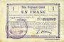 Banknoten Etreux (02). Commune. Billet. B.R.U., 1 franc