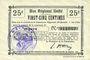 Banknoten Etreux (02). Commune. Billet. B.R.U., 25 centimes