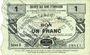 Banknoten Flaumont-Waudrechies (59). Société des Bons d'Emission. Billet. 1 franc 5.3.1916, série 8