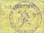Banknoten Fontaine-Notre-Dame (59). Commune. Billet. 10 centimes (carton)