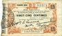 Banknoten Fourmies (59) Bon Régional des Départ. du Nord, Aisne & Oise. Billet. 25 cmes 24.10.1915, 1ère série