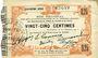 Banknoten Fourmies (59). Bon Régional des Départ. du Nord, Aisne & Oise. Billet. 25 cmes 24.10.1915, 4e série