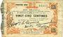 Banknoten Fourmies (59). Bon Régional des Départ. du Nord, Aisne & Oise. Billet. 25 cmes 24.10.1915, 5e série