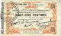 Banknoten Fourmies (59). Bon Régional des Départ. du Nord, Aisne & Oise. Billet. 25 cmes 24.10.1915, 7e série