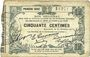 Banknoten Fourmies (59). Bon Régional des Départ. du Nord, Aisne & Oise. Billet. 50 cmes 24.10.1915, 1e série