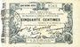 Banknoten Fourmies (59). Bon Régional des Départ. du Nord, Aisne & Oise. Billet. 50 cmes 24.10.1915, 4e série