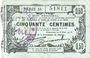 Banknoten Fourmies (59). Bon Régional des Départ. du Nord, Aisne & Oise. Billet. 50 cmes 8.5.1915, série 16