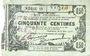 Banknoten Fourmies (59). Bon Régional des Départ. du Nord, Aisne & Oise. Billet. 50 cmes 8.5.1915, série 18