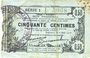Banknoten Fourmies (59). Bon Régional des Départ. du Nord, Aisne & Oise. Billet. 50 cmes 8.5.1915, série 1