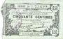 Banknoten Fourmies (59). Bon Régional des Départ. du Nord, Aisne & Oise. Billet. 50 cmes 8.5.1915, série 25