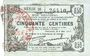 Banknoten Fourmies (59). Bon Régional des Départ. du Nord, Aisne & Oise. Billet. 50 cmes 8.5.1915, série 28