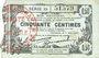 Banknoten Fourmies (59). Bon Régional des Départ. du Nord, Aisne & Oise. Billet. 50 cmes 8.5.1915, série 30