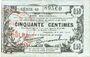 Banknoten Fourmies (59). Bon Régional des Départ. du Nord, Aisne & Oise. Billet. 50 cmes 8.5.1915, série 49