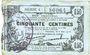 Banknoten Fourmies (59). Bon Régional des Départ. du Nord, Aisne & Oise. Billet. 50 cmes 8.5.1915, série 4