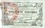 Banknoten Fourmies (59). Bon Régional des Départ. du Nord, Aisne & Oise. Billet. 50 cmes 8.5.1915, série 54