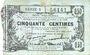 Banknoten Fourmies (59). Bon Régional des Départ. du Nord, Aisne & Oise. Billet. 50 cmes 8.5.1915, série 6