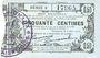 Banknoten Fourmies (59). Bon Régional des Départ. du Nord, Aisne & Oise. Billet. 50 cmes 8.5.1915, série 9