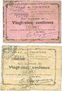Banknoten Fourmies (59). Ville. Billets. 25 centimes (2 ex) 6.10.1914
