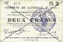 Banknoten Gavrelle (62). Commune. Billet. 2 francs 22.8.1915
