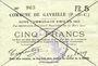Banknoten Gavrelle (62). Commune. Billet. 5 francs 20.3.1915