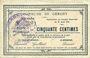Banknoten Gergny (02). Commune. Billet. 50 cmes 27.8.1915