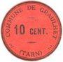 Banknoten Graulhet (81). Commune. Billet. 10 centimes