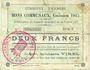 Banknoten Harnes (62). Commune. Billet. 2 francs 20.2.1915, série C