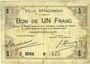 Banknoten Hautmont (59). Ville. Billet. 1 franc 14.12.1914, 2e série
