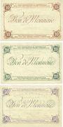 Banknoten Hem (59). Commune. Billets. 10 francs, 20 francs, 50 francs Spécimens, 2e série, sans numérotation