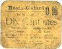 Banknoten Hénin-Liétard (62). Ville. Billet. 10 centimes 7.9.1915, carton jaune