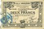 Banknoten Hénin-Liétard (62). Ville. Billet. 2 francs 6.3.1916, série A