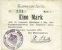 Banknoten Hirsingue (68). Commune. Billet. 1 mark sept 1914. Signature manuscrite du maire H. Schott