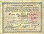 Banknoten Hirson (02). Ville. Billet. 1 franc 9.3.1915