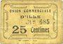 Banknoten Ille (66). Union Commerciale d'Ille. Billet. 25 centimes